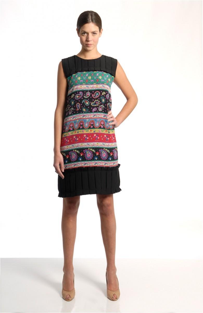 Caterina Gatta Short dress black plissé