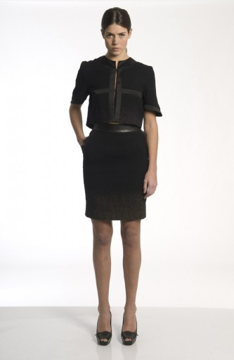 Sergei Grinko Skirt - leather inserts