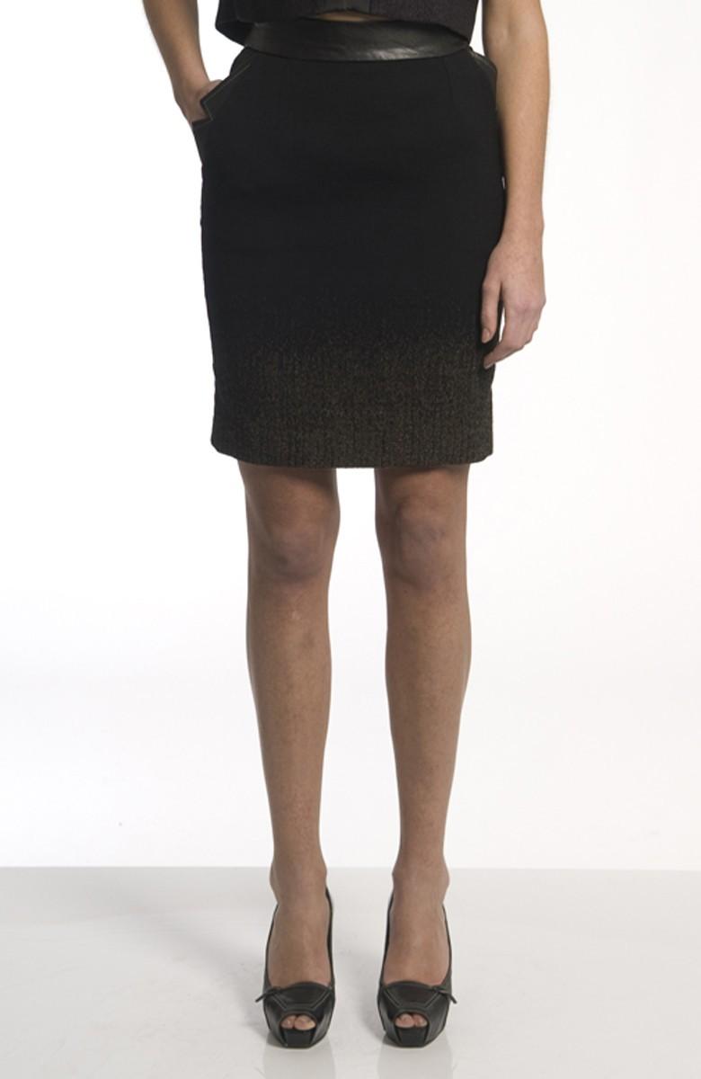 Sergei Grinko Skirt - leather inserts