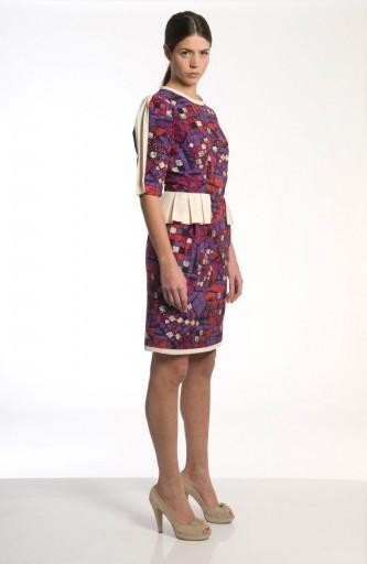 Caterina Gatta Short mosaic print dress