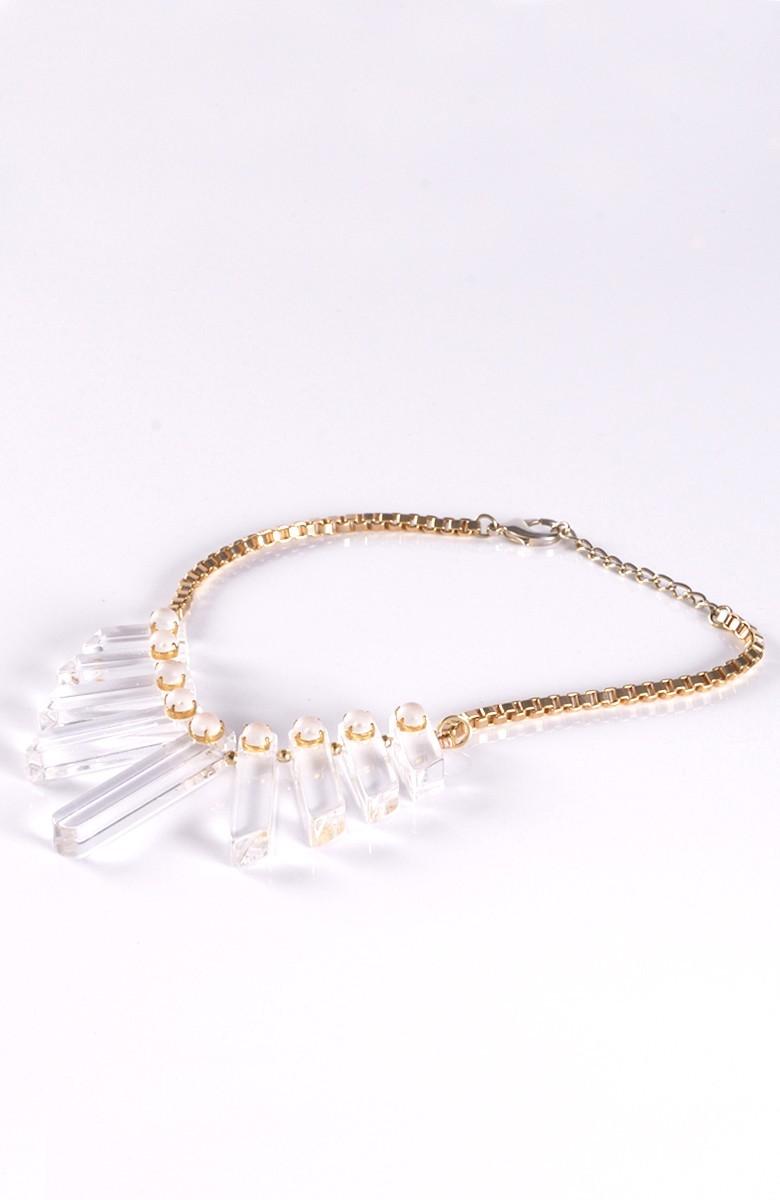 Grinko clear plexiglass Necklace