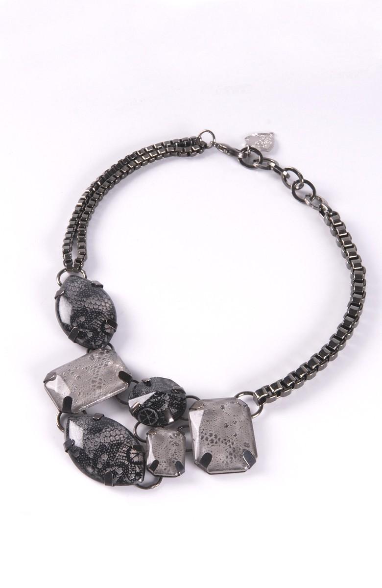 Grinko plexiglass & Lace Necklace