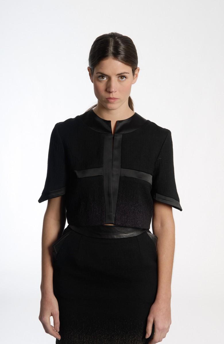 Sergei Grinko top/jacket - leather inserts