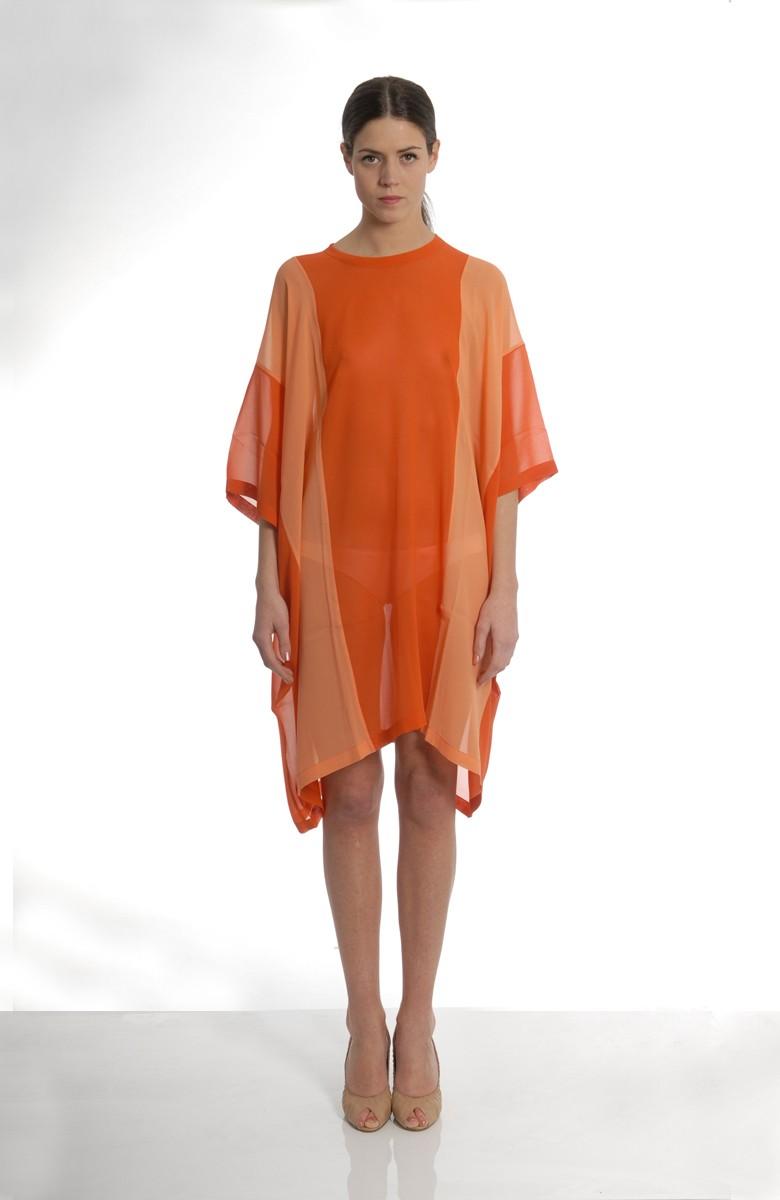 MARIOS - Split curtain dress
