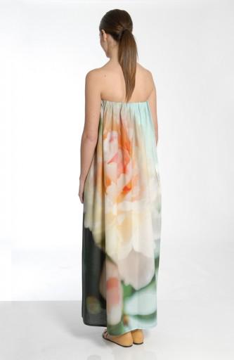 MARIOS - Strapless dress in poplin