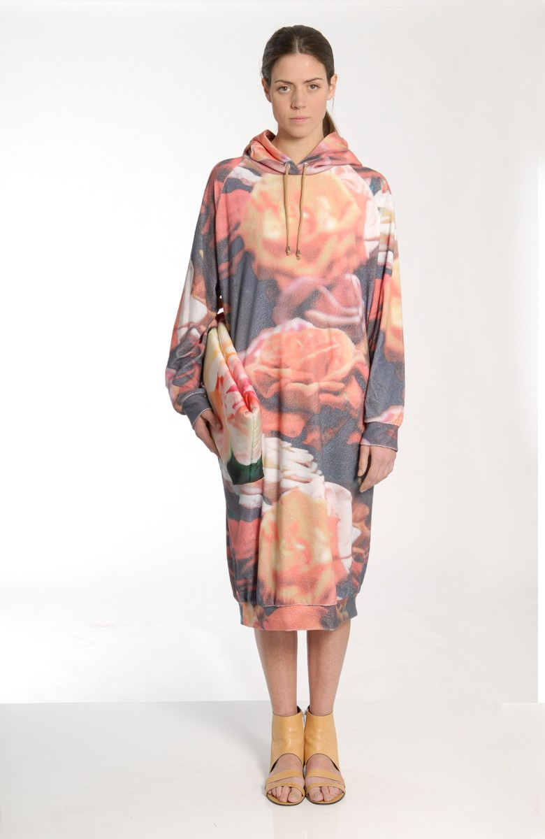 MARIOS - Maxi hoody dress