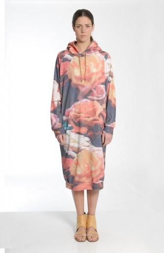 MARIOS - Maxi hoody dress