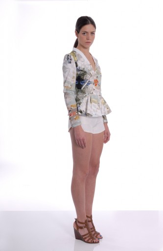 A-LAB - Printed suit Jacket