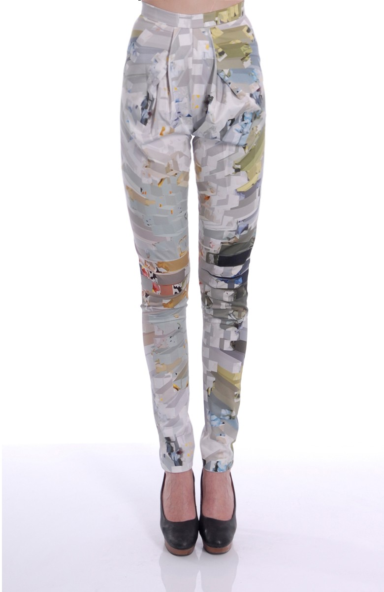 A-LAB - Printed skinny trousers