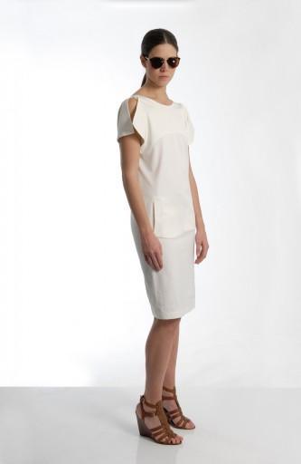 Sergei Grinko Dress - Total White vest dress