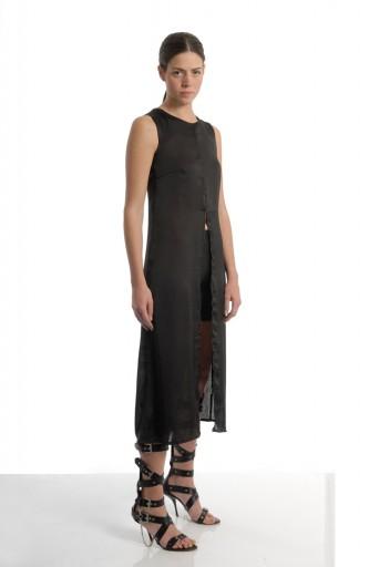 VACCINE - Long dress / black