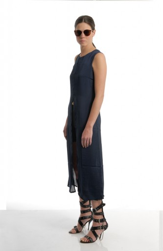 VACCINE - Long dress / navy blue
