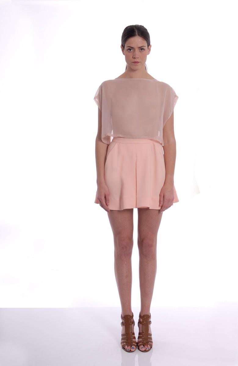 A-LAB - silk crepe skirt